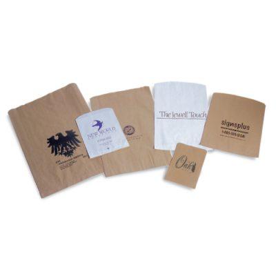 Paper Merchandise Bags White Kraft-0