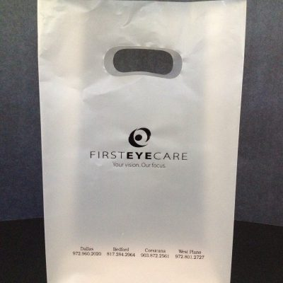 First Eye Care - clear frost die cut handle