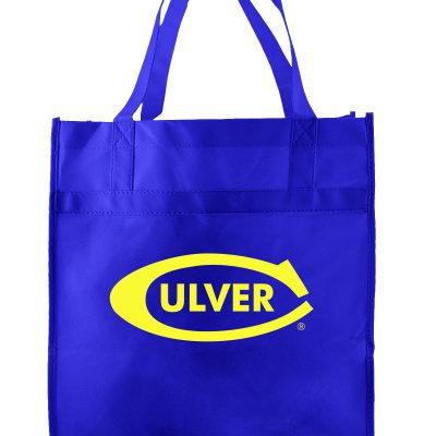 Royal Blue non-woven econo Grocery totes screen printed-sham
