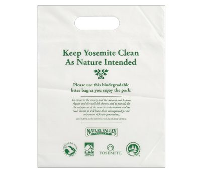 "12 x 15"" die cut handle Yosemite rock bag printed"