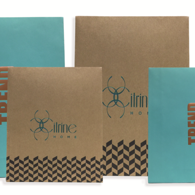 Caribbean Blue+Modern Chevron Kraft Mailer Gift Bag18