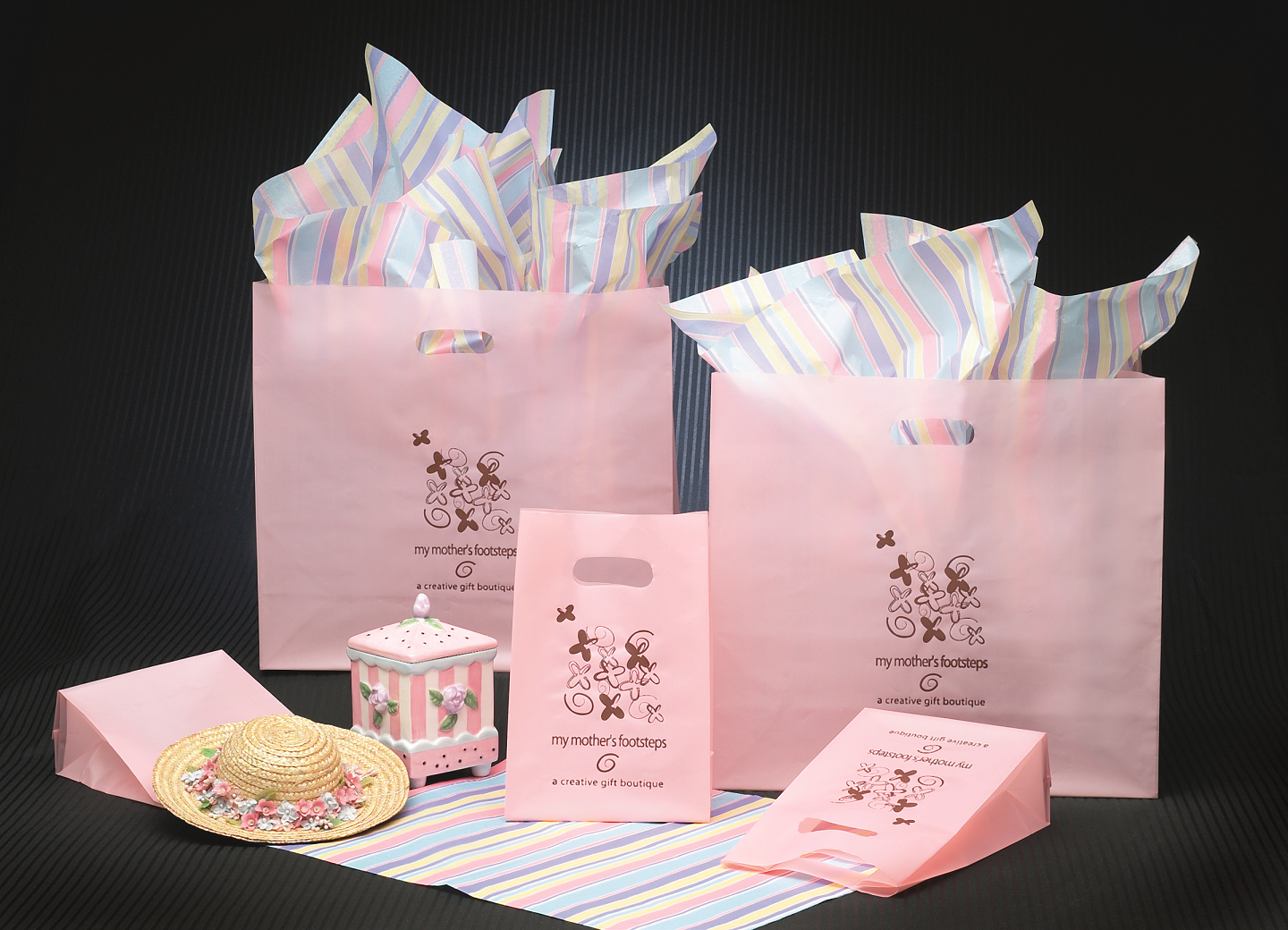 Frosted Colored Die Cut Printed Bags